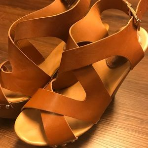 Shoes - Strappy thick heels